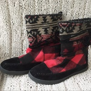 Buffalo Plaid Boots